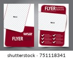 red flyer template design.... | Shutterstock .eps vector #751118341