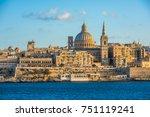 view of valletta  the capital... | Shutterstock . vector #751119241