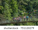 life in rural nepal  on route... | Shutterstock . vector #751120279