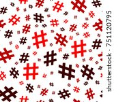 hashtag icon seamless pattern.... | Shutterstock .eps vector #751120795