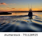 A Sport Fishing Boat Heading...