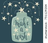 """make a wish"" hand lettering.... 