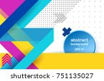 lines abstract background   ... | Shutterstock .eps vector #751135027