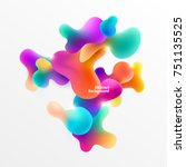 Plastic colorful shapes. Abstract background | Shutterstock vector #751135525