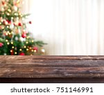 christmas table background | Shutterstock . vector #751146991