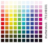 color spectrum chart with... | Shutterstock .eps vector #751148101
