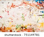 grunge background from old torn ... | Shutterstock . vector #751149781