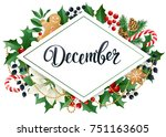 december design composition of... | Shutterstock .eps vector #751163605