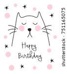 happy birthday card   Shutterstock .eps vector #751165075