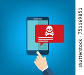 malware notification on... | Shutterstock .eps vector #751169851