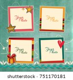 decorative vector template... | Shutterstock .eps vector #751170181