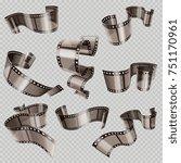 retro 35mm foto and movie film... | Shutterstock . vector #751170961