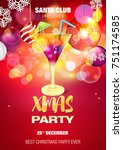christmas. party. | Shutterstock .eps vector #751174585