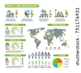 family statistics infographics... | Shutterstock . vector #751176931