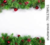 decorative background with fir... | Shutterstock . vector #751178911