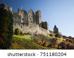 fortified city of carcassonne... | Shutterstock . vector #751180204