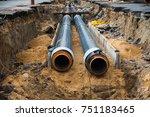 street reconstruction site of... | Shutterstock . vector #751183465