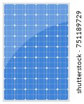 solar panel isolated on a white ... | Shutterstock .eps vector #751189729