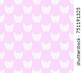 angry cat seamless pattern | Shutterstock .eps vector #751191325