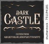 vector retro typeface. vector... | Shutterstock .eps vector #751194181