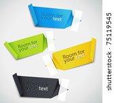 colorful set of speech bubbles. ... | Shutterstock .eps vector #75119545