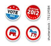 set of us presidential election ... | Shutterstock .eps vector #75119584