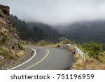 rural  deserted road in the...   Shutterstock . vector #751196959