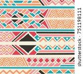 tribal ethnic colorful bohemian ...   Shutterstock .eps vector #751198111