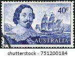 australia   circa 1966  stamp... | Shutterstock . vector #751200184