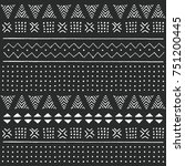 black and white tribal ethnic... | Shutterstock .eps vector #751200445