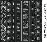 black and white tribal ethnic... | Shutterstock .eps vector #751200454