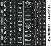 black and white tribal ethnic... | Shutterstock .eps vector #751200454