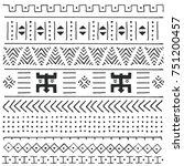 black and white tribal ethnic... | Shutterstock .eps vector #751200457