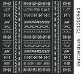 black and white tribal ethnic... | Shutterstock .eps vector #751200961