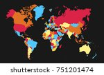 color world map vector   Shutterstock .eps vector #751201474