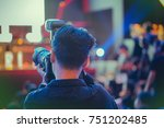 professional photographers are...   Shutterstock . vector #751202485