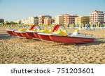 emilia romagna  italy  boats on ... | Shutterstock . vector #751203601