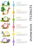 infographic design with wild... | Shutterstock .eps vector #751206151