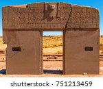 complete view of the sun gate... | Shutterstock . vector #751213459