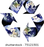 planet earth placed within... | Shutterstock . vector #75121501