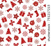 beautiful repeating christmas... | Shutterstock .eps vector #751217215