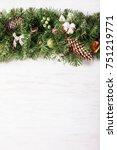 christmas border design    Shutterstock . vector #751219771