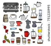 coffee doodle icons