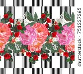 seamless pattern with beautiful ... | Shutterstock .eps vector #751227265