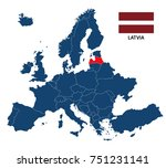 vector illustration of a map of ... | Shutterstock .eps vector #751231141