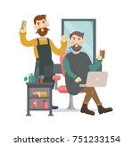 barbershop   hairdressers salon....   Shutterstock .eps vector #751233154