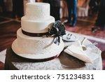 beautiful wedding cake... | Shutterstock . vector #751234831