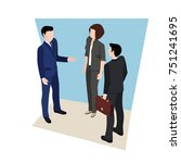 business meeting  people in... | Shutterstock .eps vector #751241695