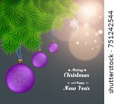 merry christmas and happy new... | Shutterstock .eps vector #751242544
