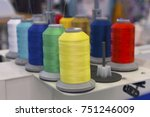 multicolored threads on the... | Shutterstock . vector #751246009